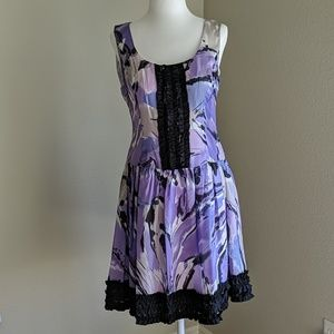 Kensie size 6 purple and black party dress